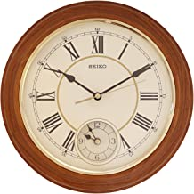 Seiko Wall Clock (30.2 cm x 30.2 cm x 4.5 cm, Brown, QXA494B)