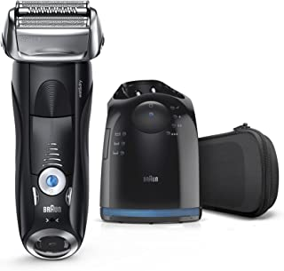 Braun Series 7 Men's Electric Foil Shaver with Wet & Dry Integrated Precision Trimmer & Rechargeable and Cordless Razor with Clean&Charge Station, 7880cc