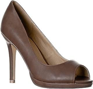 Women's Julia Slight Platform Open Toe High Heel Pumps