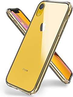"""iPhone XR Case,ORETech iPhone XR Phone Case Transparent Clear Tempered Glass Back Case with Soft TPU Edge Protective Heavy Duty Case Anti-Scratch Cases for iPhone XR Phone Case - Clear -6.1"""""""
