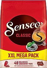 Senseo Pads Classic, Megapack XXL, 480 Kaffeepads UTZ-zertifiziert, 10er Pack, 10 x 48 Getränke