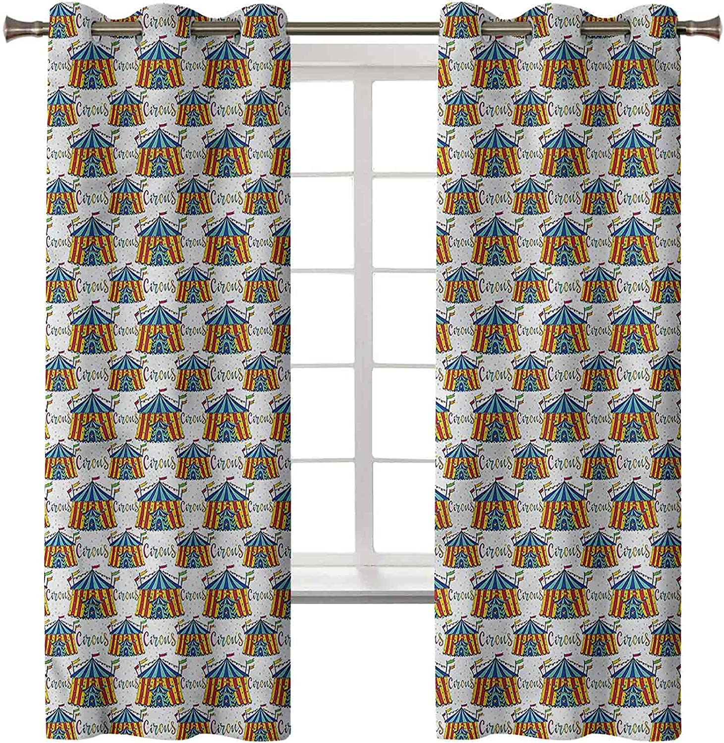 Circus Popular product Bedroom Blackout Curtains Set Excellence of 2 Inch H 84 42 Panels x