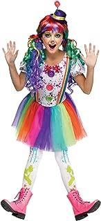 Crazy Color Clown Child Costume