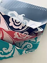 Carolina Pad Studio C 6 Pocket Organizer, Versailles (Red, Teal and Navy with White Floral Scroll)