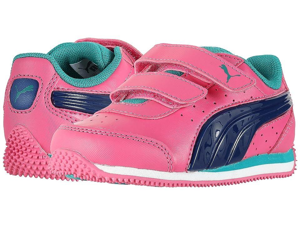 Puma Kids Speed Light Up Power V INF (Toddler) (Shocking Pink/Blue) Girls Shoes