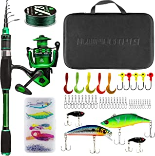 Telescopic Fishing Rod and Reel Combos Collapsible...