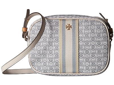 Tory Burch Gemini Link Canvas Mini Bag (New Ivory Gemini Link) Handbags