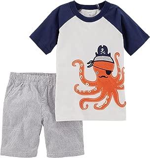 Carter ' s 婴儿男孩2件套前纽扣上衣和短裤套装