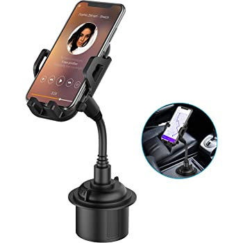 Car Cup Holder Phone Mount, Adjustable Gooseneck Cupholder Cell Phone Cradle with 360° Rotatable Holder for iPhone XR Xs XS Max X 8 7 7 Plus 6s/ Samsung Galaxy S10 S9 S8 S7/ Note 9 8, Huawei, GPS etc