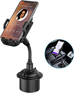 Car Cup Holder Phone Mount, Adjustable Gooseneck Cupholder Cell Phone Cradle with 360° Rotatable Holder, Compatible with M...