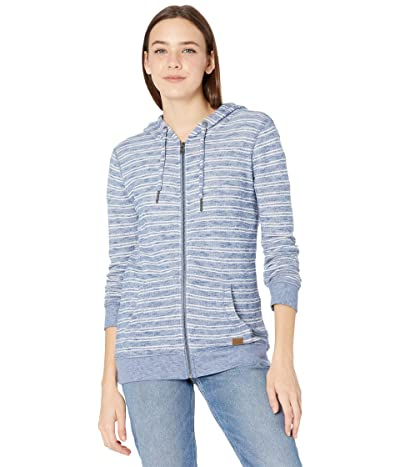 Roxy Trippin Zip Hoodie (True Navy Stranger Bico Stripes) Women