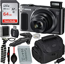 Canon PowerShot SX620 HS Digital Camera (Black) with Essential Accessory Bundle - Includes: SanDisk Ultra 64GB SDXC Memory Card, Pistol Grip, Carrying Case & Much More