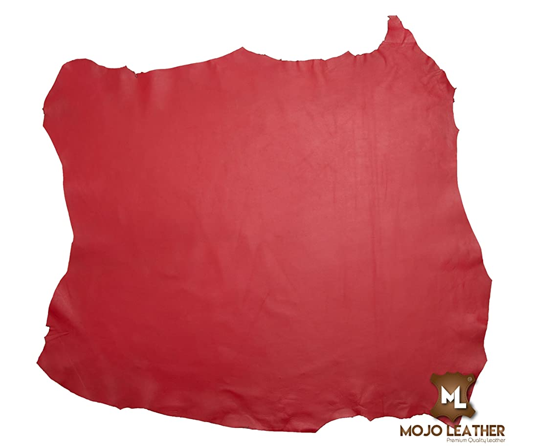 Leather Hide Full Grain Whole Skin Various Colours Grade AA Nappa Upholstery Craft LEATHERCRAFT (Passion RED)