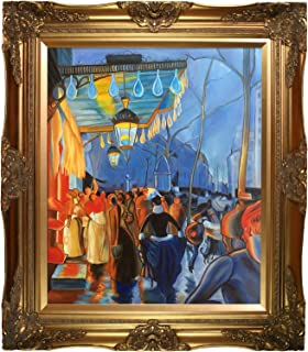 overstockArt Avenue de Clichy, le Soir Cinq Heures, 1887 by Louis Anquetin with Victorian Gold Frame Hand Painted Oil Reproduction