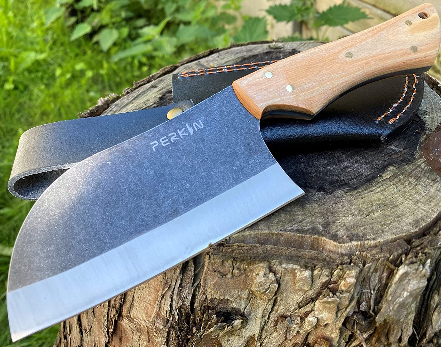 Perkin Hunting Sale special price Knife With Sheath 1095 Steel Super Special SALE held Cleaver PK2500