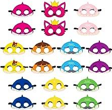 20Pcs Little Shark Masks Set Doo Doo Shark Party Favors Children Cosplay Soft Mask Half Masks Birthday Themed Party Masks Cute Shark Felt Masks for Kids Boys Girls by BeYumi
