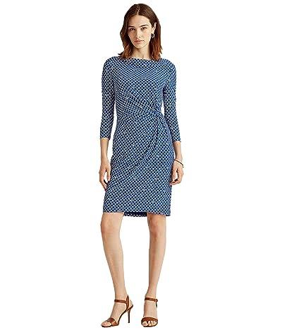 LAUREN Ralph Lauren Print Twisted-Knot Jersey Dress