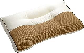 西川(Nishikawa) 枕 日本製 洗える 頸椎支持型 高さ自在調整 横向き寝 ベージュ 36x56cm 頭部首肩サポート ムレにくいメッシュ生地やパイプ使用 06-TPL0924 BE