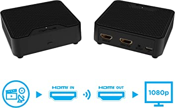$129 Get Nyrius WS55 Wireless HDMI Video Transmitter & Receiver for Streaming HD 1080p Video & Digital Audio from A/V Receiver, Cable/Satellite Box, Blu-ray, PC to TV/Projector