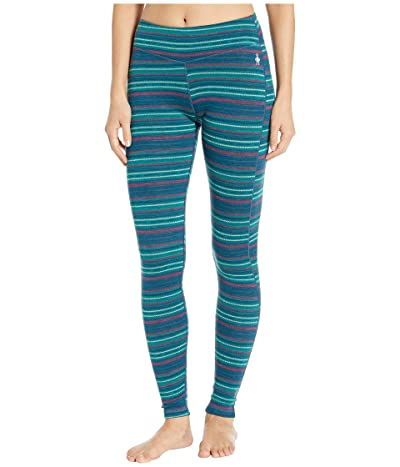 Smartwool Merino 250 Base Layer Pattern Bottoms (Peacock Margarita) Women