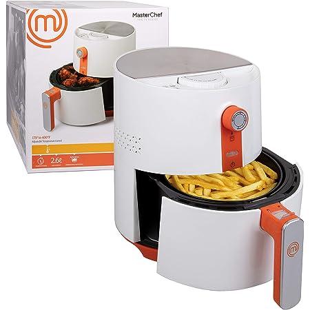 MasterChef freidora de aire - 3.6Q antiadherente olla eléctrica con libreta de recetas - Incluye temporizador, apagado automático, bloqueo de cesta y ...
