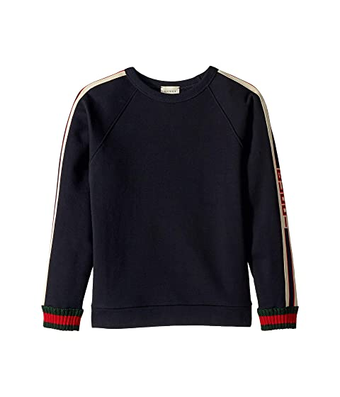 Gucci Kids Web Knitted Trim Sweatshirt (Little Kids/Big Kids)