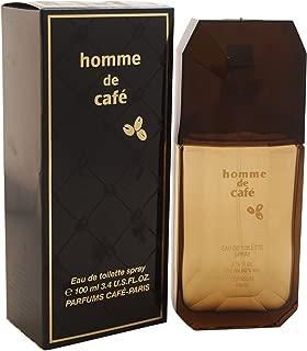Cafe Homme De Cafe Eau de Toilette Spray for Men, 3.4 Ounce