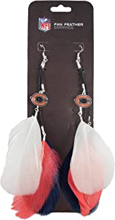 NFL Chicago Bears Feather Earrings