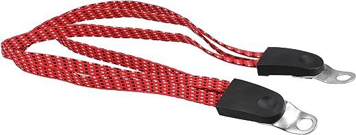 mumbi Spanngurt Fahrrad Spanngurte Gepäckträger Fahrradträger Zubehör – ca 63cm bis 1m ausziehbar in rot