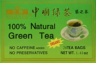 Royal King 100% Natural Green Tea, 20 Tea Bags