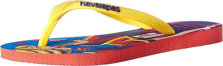 Havaianas Kid's DC Super Hero Flip Flop Sandal, Coral, 9 M US Toddler