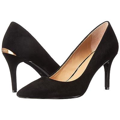 Calvin Klein Gayle Pump (Black Leather/Suede) High Heels