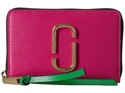 Marc Jacobs Snapshot Small Standard (Diva Pink Multi) Handbags