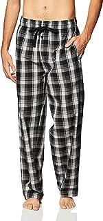 Fruit of the Loom Men's Woven Sleep Pajama Pant, Ebony, 6XL