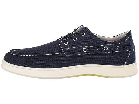 De Zapato Del Del Nubucknavy Caqui Color Lona Marino Borde Azul Dedo Moc Del Barco Pie Nubuck De Florsheim 4qHxAwPW
