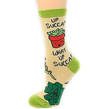 Oooh Yeah Women's Novelty Crew Socks, Funny Crazy Silly Socks, Cool Fashion Socks, Office Socks, Dress Cotton Socks