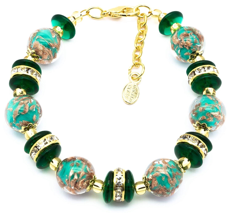 Authentic New Shipping Free Shipping Murano Glass Ranking TOP9 Bracelet Handmade Italy Aventurine In Gla