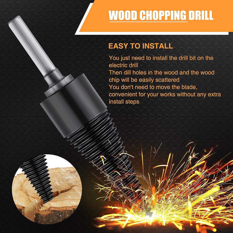 ghdonat.com Hex Shank Firewood Log Splitter Drill Bit Removable ...