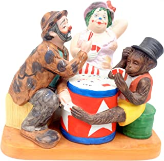 The Cheaters Figurine - The Original Emmett Kelly Circus Collection, Porcelain Hobo Clown w/Original Box