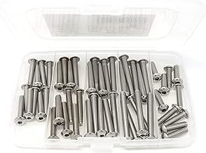 iExcell 50 Pcs M5 x 20mm/25mm/30mm/35mm/40mm Stainless Steel 304 Hex Socket Button Head Cap Screws Assortment