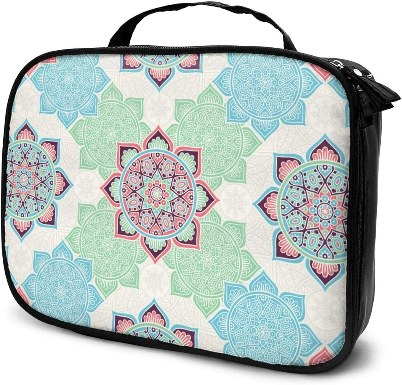 Pink Green Blue Max 80% OFF Bohemian Retro Travel Train Cheap super special price Case Pattern Makeup