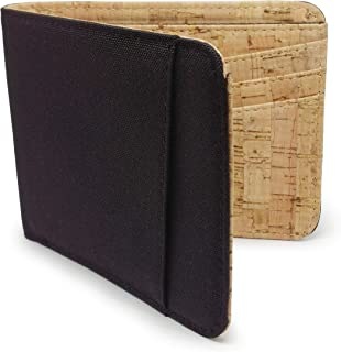 Baldwin Bifold 10 Card RFID Blocking Water Resistant Cordura Cork Wallet