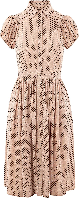 oodji Ultra Damen Midi-Kleid Kleid mit Ausgestelltem Rock