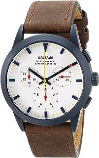 Jack Spade Men's WURU0107 Barrett Analog DisplaySwiss Quartz Brown Watch