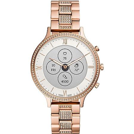 [フォッシル] 腕時計 ハイブリッドスマートウォッチHR FTW7012 レディース 正規輸入品 ピンクゴールド
