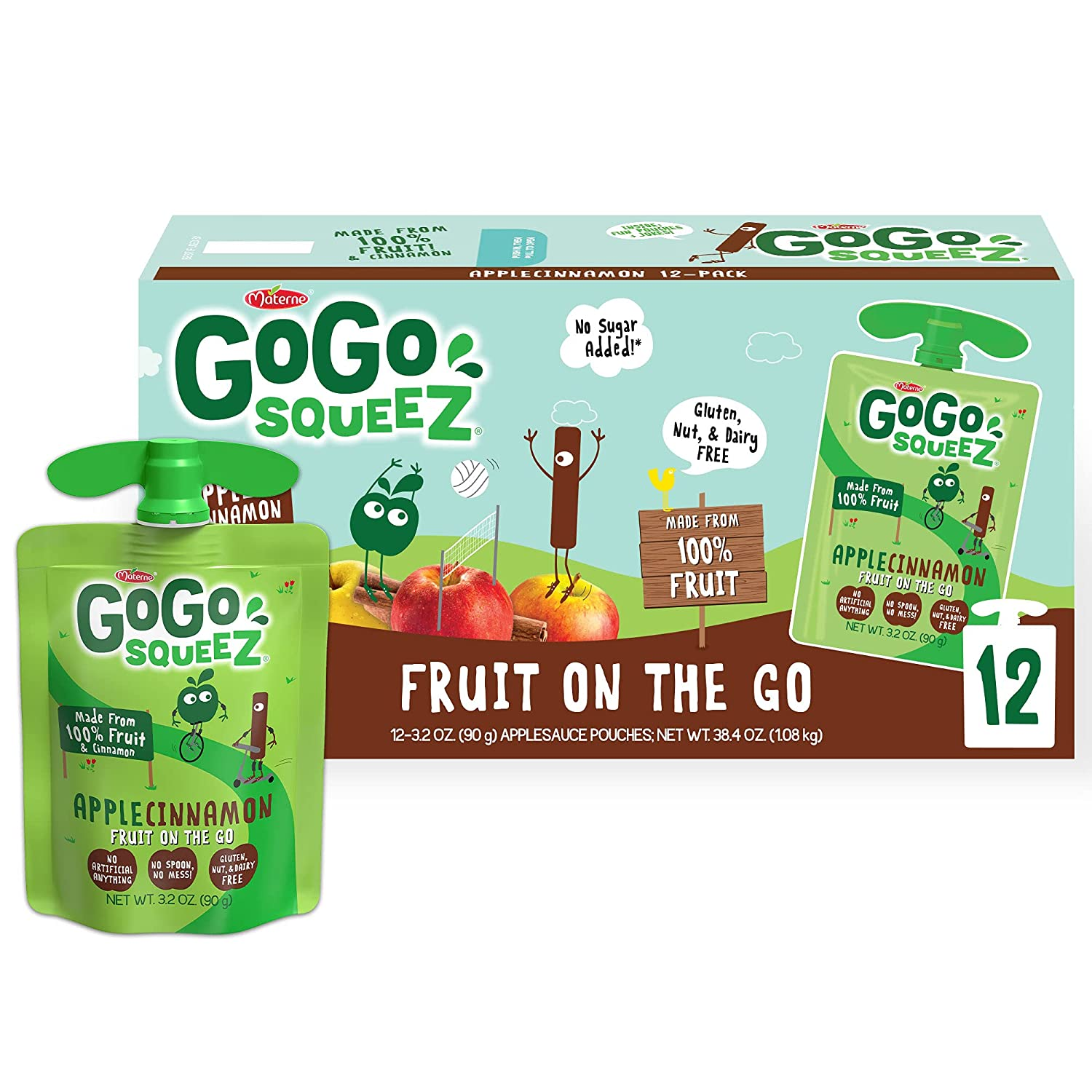 Reservation GoGo SqueeZ In a popularity 120448 Applesauce Apple 3.2 Ounce 12 Cinnamon Pou