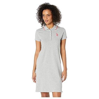 U.S. POLO ASSN. Plain Polo Dress (Heather Grey) Women