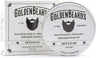 Bio Beard Balm -HYGGE - 60ML - 100% Organic by -Golden Beards- NON SCENTED Beard Oil