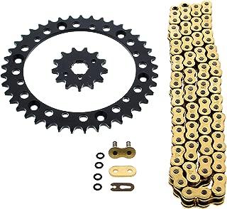 Gold O Ring Chain & Sprocket Black 13/40 98L Yamaha YFM350 Warrior 350
