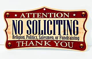 Funny HAHA USA No Soliciting Sign 7.75 x 11 Heavy PVC by Funny HAHA